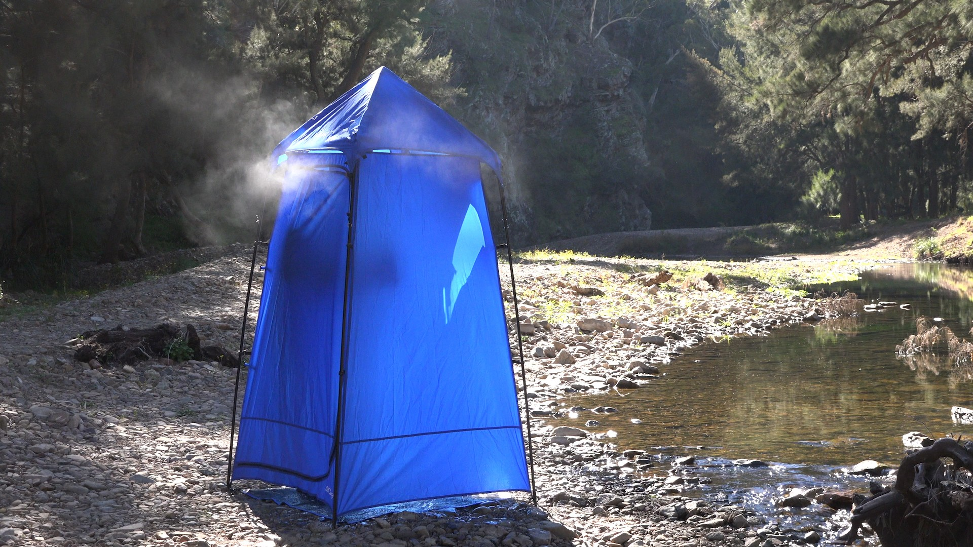 Are Camping Solar Panels Still Useful During Winter? - image shower_tent on https://www.4wdsupacentre.com.au/news
